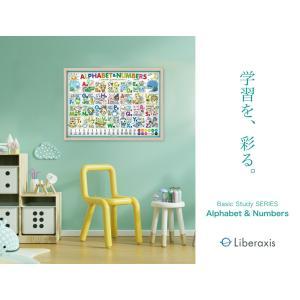 Ver.2.0 アルファベット表 Alphabet & Numbers Ver.2.0 おふろで学べる英語ポスター English basics ABC ver. A2判