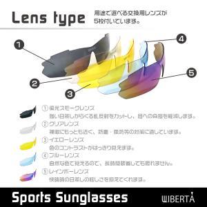 スポーツサングラス 偏光サングラス 野球 メン...の詳細画像4