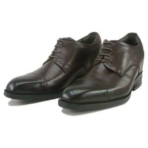 レニカ RENICA  ヒールアップシューズ ストレートチップ ダークブラウン [1508] 紳士靴 ヒールとインソール合わせて+6cm|liberta