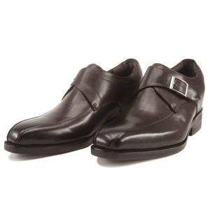レニカ RENICA  ヒールアップシューズ モンクストラップ ダークブラウン [1509] 紳士靴 ヒールとインソール合わせて+6cm|liberta