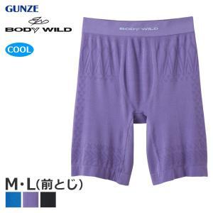 [メール便 10] GUNZE グンゼ BODY WILD ボディワイルド ファッション COOLNISTA(メッシュ成型・エアフィ) ロングボクサー(前とじ)(M・L)BWC889J [m]|liberty-h