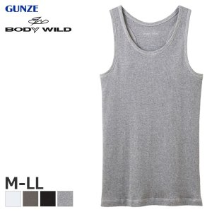 GUNZE グンゼ BODY WILD ボディワイルド スタンダード トップス(リブ) タンクトップ(M・L・LL)BWJ418J [m]|liberty-h