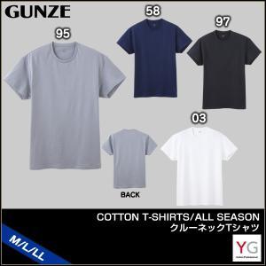 [メール便 15] GUNZE グンゼ YG ワイジー COTTON T-SHIRTS ALL SEASON クルーネックTシャツ(M・L・LL)YV0513 [m]|liberty-h