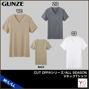[メール便 15] GUNZE グンゼ YG ワイジー CUT OFFシリーズ ALL SEASON VネックTシャツ(M・L・LL)YV1515 [m]|liberty-h