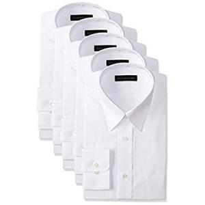 コナカ メンズワイシャツ ビジネスベーシックスタイル 白無地 長袖 豊富な32サイズから選べる 形態安定加工 5枚組セット KZ_YS-WH liberty-online
