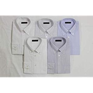 コナカ メンズワイシャツ ビジネスベーシックスタイル メンズ各色ボタンダウンシャツ5枚組 長袖 豊富な8サイズから選べる 形態安定加工 5枚 liberty-online