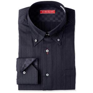 ヤマキ LAROCHA UOMO メンズワイシャツ カラーバリエーション8柄 長袖 形態安定加工 GND626 485-ヘンケイドゥエBD liberty-online
