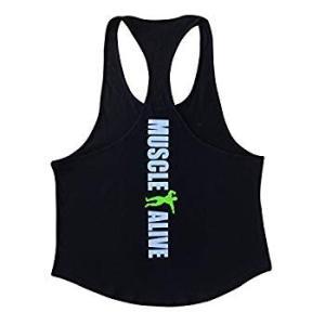 Slim Alive メンズ タンクトップ アスレチック トレーニング スポーツウェア ジム ボディービルディング liberty-online