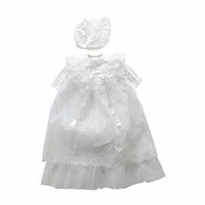 日本製 夏物 新生児お宮参りセレモニー用 2段ロングオーガンジーコート お帽子付きベビードレスセット