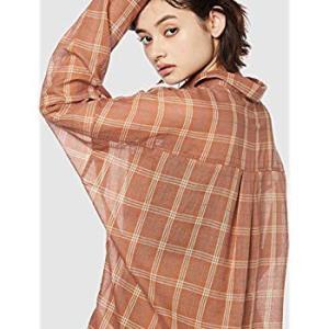 アングリッド シャツ ガーゼチェックルーズシャツ レディース 111940406501 オレンジ 日...