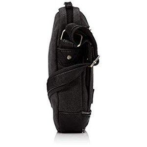 リー ショルダーバッグ 軽量 撥水加工厚手コットンキャンバス ポシェット ブラック