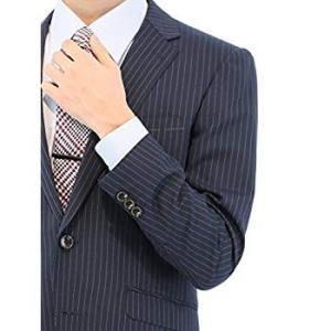 タカキュー m.f.editorial ストライプ ネイビー 2ピース レギュラー スーツ 1.10...