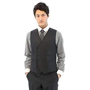 タカキュー m.f.editorial 短丈ストレッチ ヘリンボン 黒 3ピース スーツ 1.100...