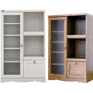 レンジボード アンティーク ビストロキッチンカウンター/キッチンラック/台所収納 白い家具|liberty