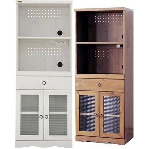 レンジボード /アンティーク ビストロ キッチンカウンター/キッチンラック/台所収納 白い家具|liberty