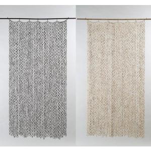 竹製リングのれん180 バー付き アジアンロング暖簾 竹目隠し 間仕切り カーテン|liberty