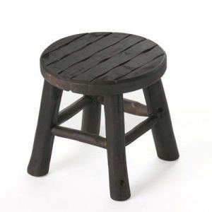 丸椅子 木製チェアー アジアン高級木製椅子 エスニックスツールSサイズ /アンティークチェア/ラウンドスツール 店舗用品としても|liberty