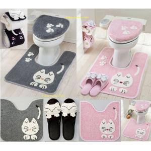 かわいいネコのトイレマット。表示はレギュラーマットのみのお値段です ★マットサイズ/フタカバー.スリ...