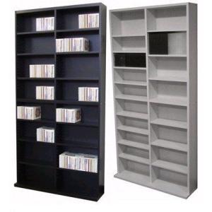 ラック/DVDラック/CDラック/書棚/ロング本棚/コミックラック 収納 ホワイト ブラウン ブラック|liberty