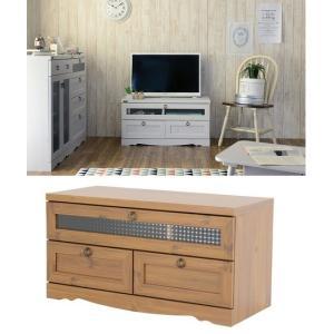 テレビ台/ビストロTVローボード90/オーディオラック TV台/ラック 白い家具|liberty