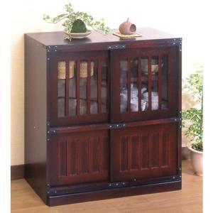 リビングボード 民芸調家具 水屋和風民芸調 キャビネット 和風家具|liberty