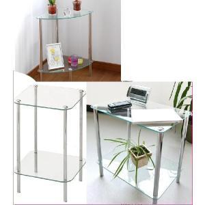 サイドテーブル 花台/ガラスラック プランターテーブル/ミニテーブル/電話台/ファックス代|liberty