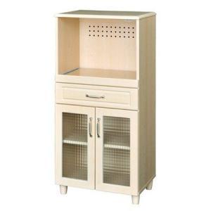レンジ台60幅 キッチンラック 食器棚 カップボード ホワイトナチュラル/レンジボード/キッチン収納|liberty