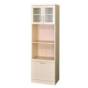 レンジ台 食器棚 キッチンラック カップボード ホワイトナチュラル/レンジボード/キッチン収納 liberty