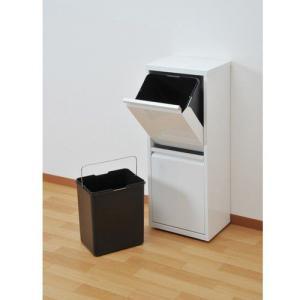分別ごみ箱 ペールストッカー/フラップ式ごみ箱 2分別 キッチンゴミ箱|liberty