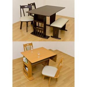 ダイニング食卓テーブル90−120 バタフライ 折り畳み/伸長タイプ |liberty