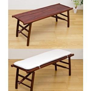 バンブー折りたたみベンチ  ダイニングベンチ チェアー/長椅子/いす/ロビーチェア/待合イス ロング|liberty