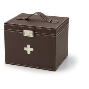 救急箱 薬箱 レザーケース 薬収納 |liberty