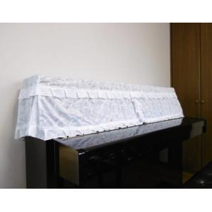ピアノカバー 花柄アップライトピアノ用フルカバー   ブラック|liberty