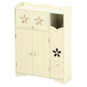 トイレラック 桜柄 トイレ収納用品|liberty