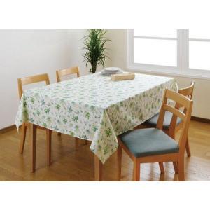 テーブルクロス/大判 撥水はっ水 180/長方形テーブル掛け グリーン|liberty
