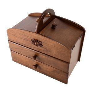ソーイングボックス 木製針箱 裁縫箱|liberty
