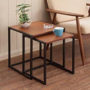 サイドテーブル ネストテーブル アンティーク風 センターテーブル/飾り台/花台コンソールテーブル|liberty