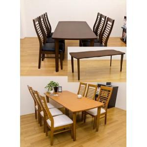 大きなダイニングテーブル180幅 食卓テーブル6人用 木製 Richmondの写真