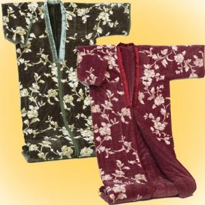 かいまき わた入カイマキ布団 マイヤー2枚合せ毛布 衿カバー付 綿入り寝具 |liberty