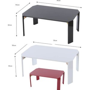 折りたたみセンターテーブル75幅 鏡面加工折れ脚テーブルローテーブル/ちゃぶ台/座卓 |liberty
