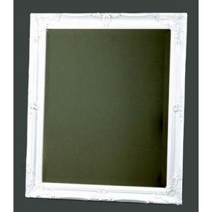 壁掛け鏡 姫系ホワイトウオールミラー アンティークミラー 姿見 店舗用品にも|liberty