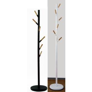 ポールハンガー ロングスタンドハンガー 木製ななめフック 玄関 おしゃれ コートツリー|liberty