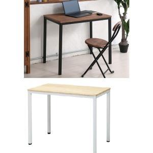 机 作業台 多目的フリーテーブル 80幅 奥行き50 パソコンデスク/つくえ レトロの写真