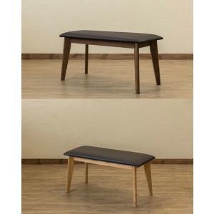 処分特価 ダイニングベンチ 木製ロングチェアー/いす/イス/食卓長椅子 レザー 待合椅子 スツール|liberty