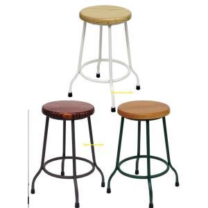 スツール アジアン風チェアー 丸椅子 木製 イス いす 脚アンティーク加工|liberty