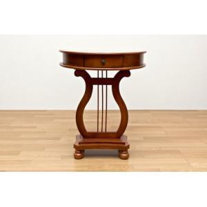 処分特価 コンソールテーブル アンティークサイドテーブル 収納付飾り棚/花台/電話題 バロック|liberty