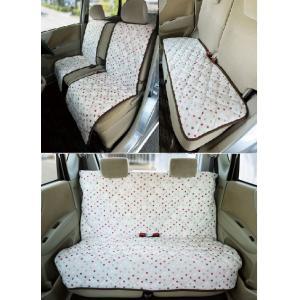 カーシートカバー フロント2枚+リア用3点セット  車用椅子カバー 水玉/ドット|liberty