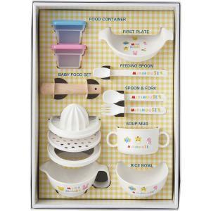 ベビー用 離乳食調理セット ミキハウスファースト テーブルウエアベビーフードセット|liberty