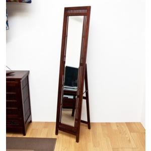 鏡 姿見 バンブースタンドミラー アジアン ジャンボミラー|liberty