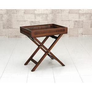 サイドテーブル/アジアンテイストバンブー 木製テーブル|liberty